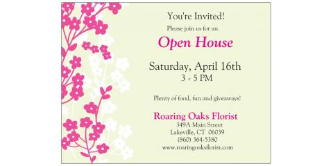 Stop By the Open House at Roaring Oaks Florist Saturday, April 16!, Lakeville, Connecticut