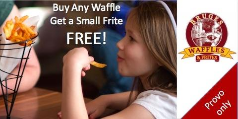 Buy Any Waffle & Get a Small Frite Free, Provo-Orem, Utah
