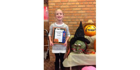 Congratulations Odessa: 1st Place Winner in our Pumkin Contest, Ripon, Wisconsin