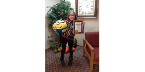 Congratulations Siera : 2nd Place Winner in our Pumpkin Contest!, Ripon, Wisconsin