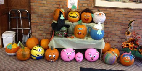 Vision Care's Patient's Voted for the Top Three Pumpkins, Ripon, Wisconsin