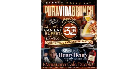PURA VIDA BRUNCH PARTY- MARCH 1st- MAMAJUANA CAFE PATERSON , Paterson, New Jersey