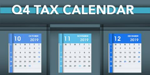 2019 Q4 Tax Calendar: Key Deadlines for Businesses and Other Employers, Mountain Home, Arkansas