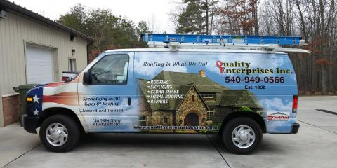 Quality Enterprise, Re-roofing, Services, Waynesboro, Virginia