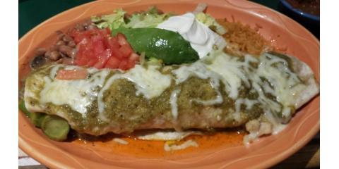 Think Outside The Burrito at Mexican Restaurant Rancho Chico, Plainville, Massachusetts