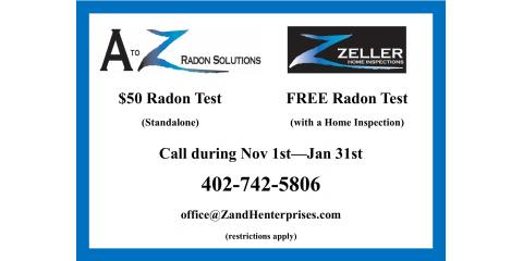 Call Now for a Discount on Radon Testing!, Lincoln, Nebraska