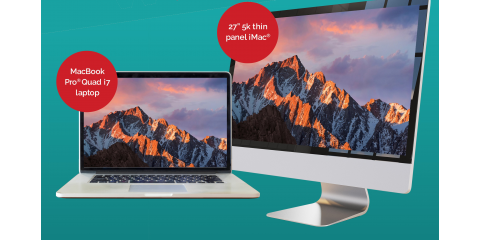 "Enter To Win a Free MacBook® Pro Quad i7 or 27"" 5K iMac® Desktop Computer At Experimac Klein in Klein, TX, Northwest Harris, Texas"