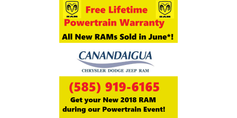 New 2018 RAMs In June Get Free Lifetime Powertrain Warranty!   Canandaigua  Chrysler Dodge Jeep   Canandaigua | NearSay
