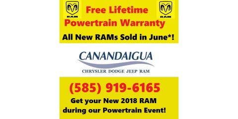 New 2018 RAMs in June Get Free Lifetime Powertrain Warranty!, Canandaigua, New York