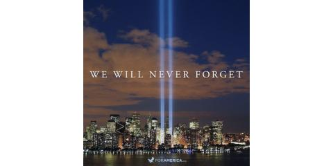 Today we pray for the families and remember the victims of 9/11, Forked River, New Jersey