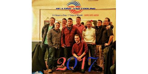 ADE Annual Christmas Party 2017!! Happy Holidays from our crew!!! (Office staff and mechanic, Jeff not pictured), Forked River, New Jersey