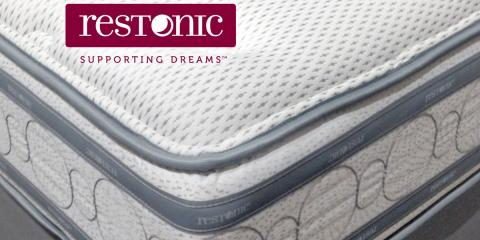 restonic the best mattress deals are at furniture world richmond