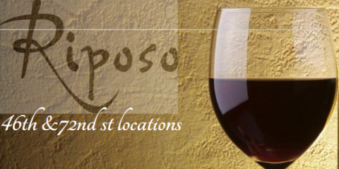 30% Off a Bottle of Wine at Riposo if You Check-In on Yelp, Manhattan, New York