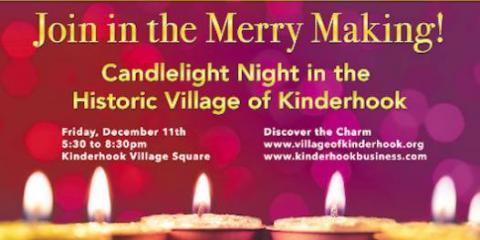 Join Local Restaurant Riverview Cafe for a Night of Holiday Fun at Kinderhook's Candlelight Night, Stuyvesant, New York