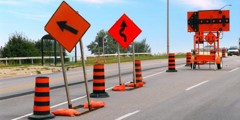 How to Exercise Construction Zone Safety & Avoid an Auto Crash, Princeton, West Virginia