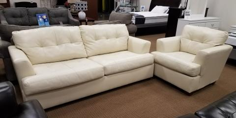 SOFA AND CHAIR-IVORY-ROEBAND BY ASHLEY-$550, St. Louis, Missouri