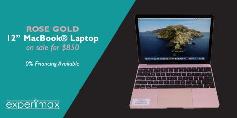 "12"" MacBook Laptop -SALE- $850 at Experimax Portsmouth, Portsmouth, New Hampshire"