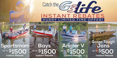 Enjoy Limited-Time Savings & Deals on G3 Boats®, Pickensville, Alabama