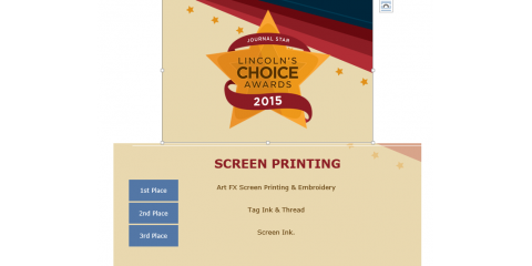 3a7d08e9 Lincoln's Choice Best Screen Printing - Tag Ink & Thread - Lincoln ...