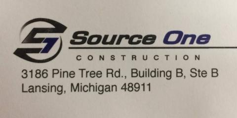 Source One Construction, Construction, Services, Lansing, Michigan
