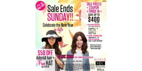 Don't Miss These Great Sale Prices from Milano Collection Wigs, Los Angeles, California