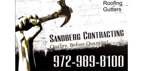 Sandberg Contracting LLC, Roofing Contractors, Services, McKinney, Texas