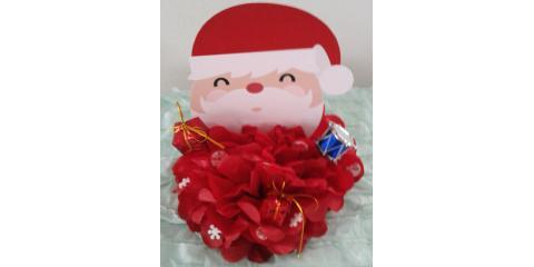 Santa Claus Paper Flower Cake Topper, Xenia, Ohio