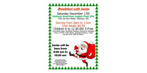 Breakfast with Santa, Holmen, Wisconsin