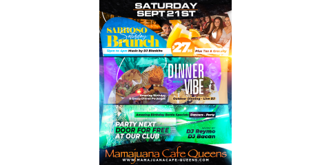 SABROSO SATURDAYS- SEPT 21st- MAMAJUANA CAFE QUEENS, New York, New York