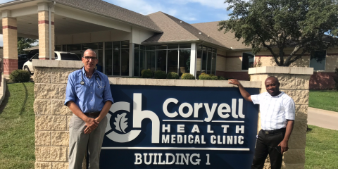 Haitian Physician Leader Visits Coryell Health, Gatesville, Texas