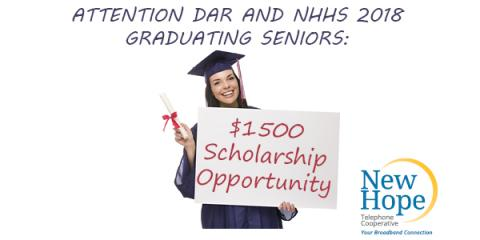 $1500 Scholarship Opportunity from NHTC, New Hope, Alabama