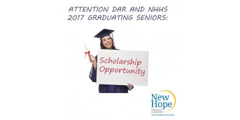 NHTC 2017 Scholarship Opportunity, New Hope, Alabama