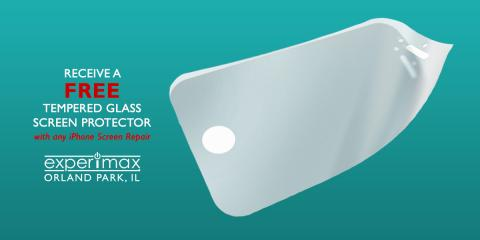 FREE Tempered Glass Screen with any iPhone® Screen Repair, Orland Park, Illinois