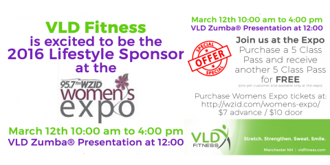 Buy 5 Classes, Get 5 Free with VLD Fitness at the WZID Manchester Women's Expo , Manchester, New Hampshire