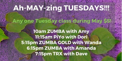 Ah-MAY-zing Feature: $5 Zumba & all Tuesday Fitness Classes, Manchester, New Hampshire