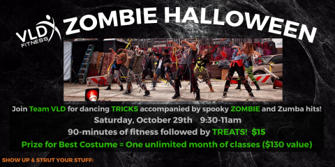 HALLOWEEN ZOMBIE ZUMBA AT VLD FITNESS , Manchester, New Hampshire