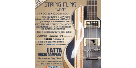 Semi Annual String Fling-FREE STRINGS, Dothan, Alabama