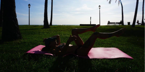 Bikini Friendly Beach Workouts, Honolulu, Hawaii