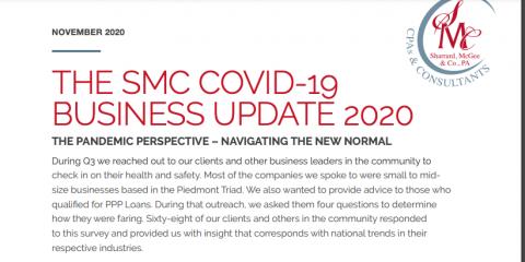 Sharrard, McGee & Co., PA Announces Results of Client COVID-19 Survey , Greensboro, North Carolina