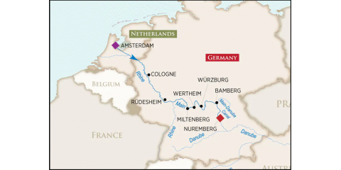 Book this cruise and get one complimentary hotel night in the fascinating medieval city of Nuremberg, Germany. , Houston, Texas