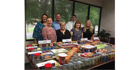 SMC Offices Create Designs with Donated Food Items, Greensboro, North Carolina