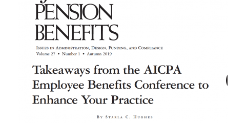 AICPA EB Conference Article by Starla C. Hughes, CPA, Published in National Journal, High Point, North Carolina