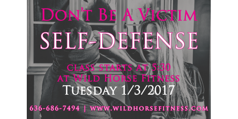Tuesday Night Self-Defense Class: 5:30 at Wild Horse Fitness, Ballwin, Missouri