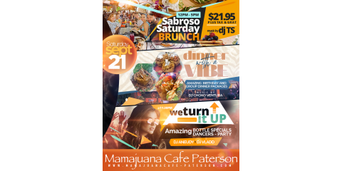 SABROSO SATURDAY - SEPT 21- MAMAJUANA CAFE PATERSON, Paterson, New Jersey