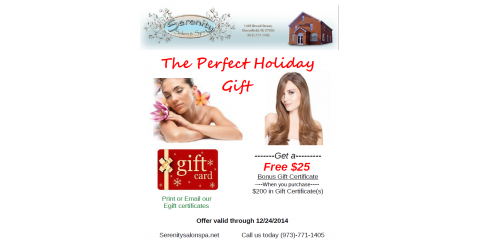 Buy $200 of Gift Cards get a extra $25 gift cerificate!, Bloomfield, New Jersey