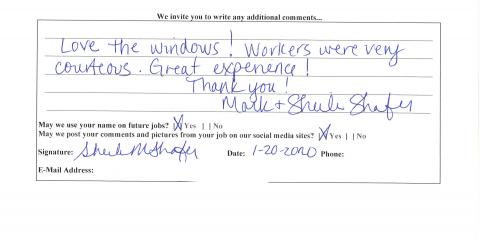 Review for JFK Window and Door from Liberty Twp., Forest Park, Ohio