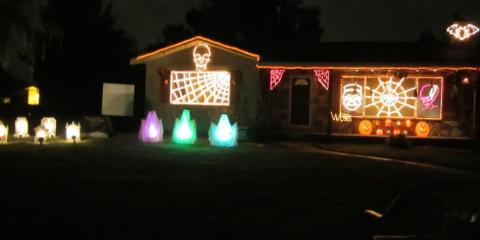Don't Miss The Last Night For The Shirk Family Halloween Light Show!, Tipp City, Ohio