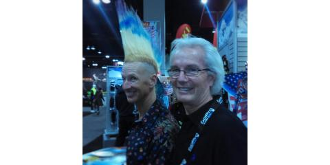 With Glen Plake at the SIA Snow Show in Denver, Denver, Colorado