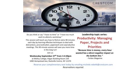 FREE workshop: Productivity: Managing Paper and Priorities, Huntington, New York