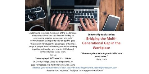 FREE workshop: Multigenerations in the Workplace, Huntington, New York